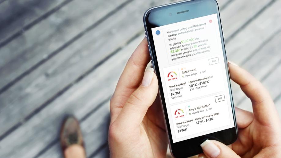 Goal Investor - app screen