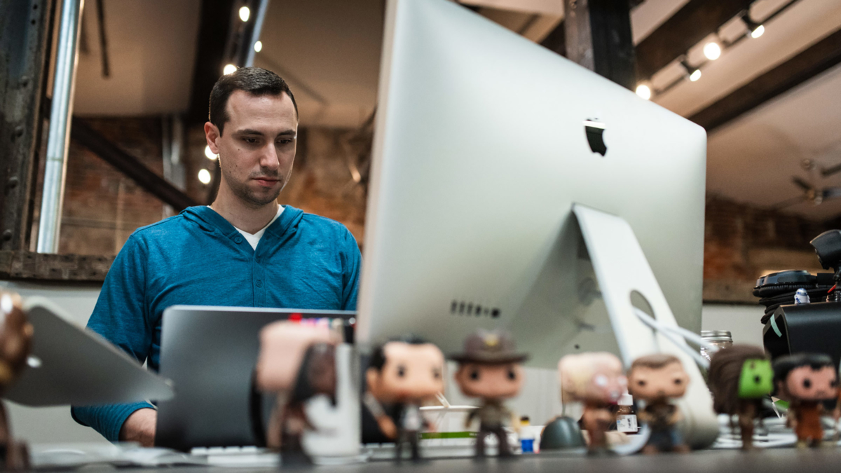 Brian Crumley at Desk