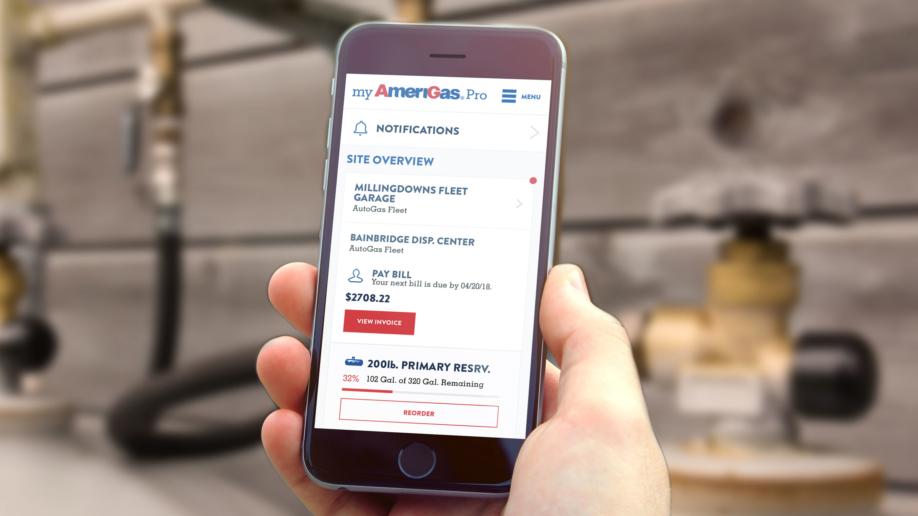 AmeriGas mobile screen