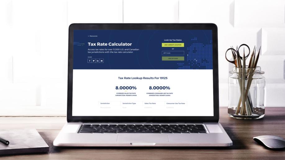 Vertex - Tax Rate Calculator