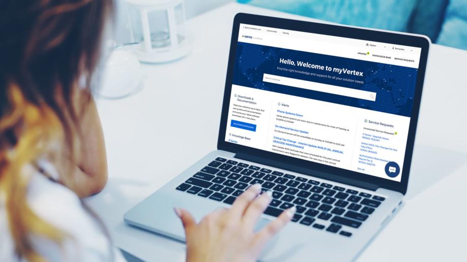 Vertex - myVertex Customer Portal