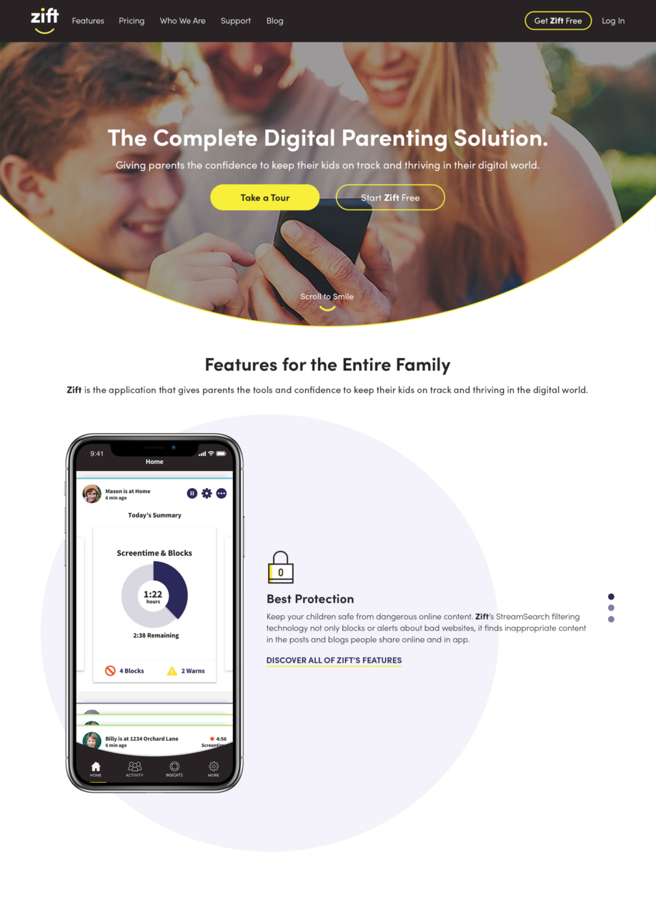 Zift homepage