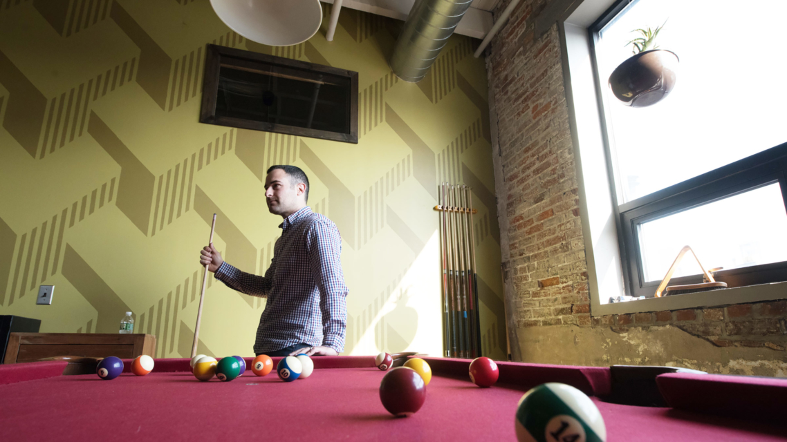 Careers - Healthy Environment - Justin Playing Pool
