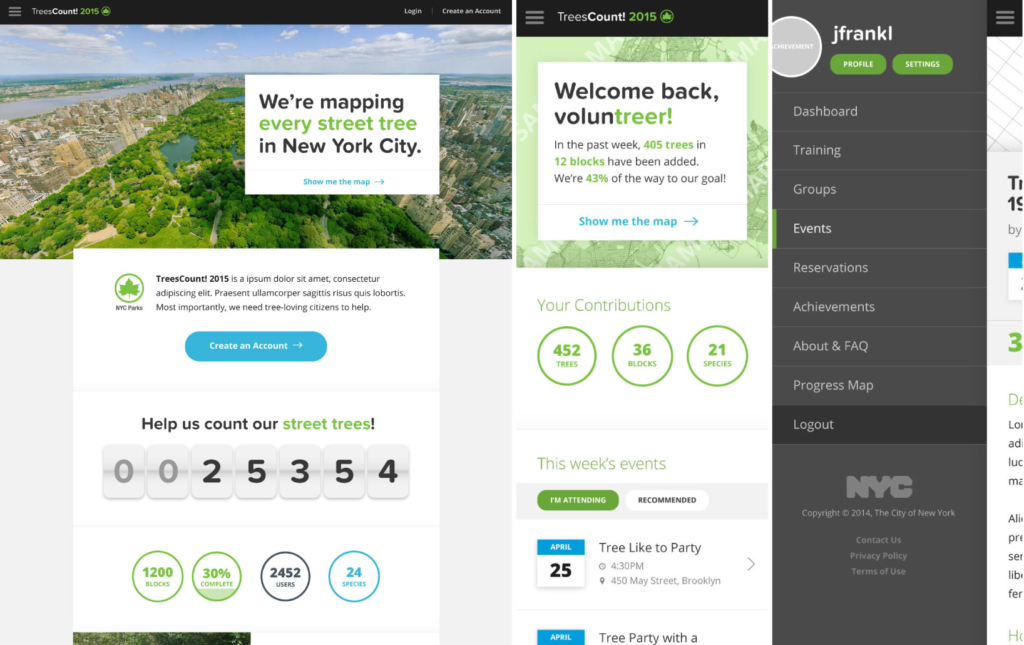 New York City Streets Department Trees Count App