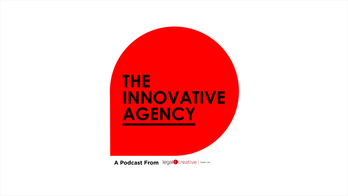 Logo for The Innovative Agency podcast.