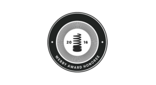 Badge for being a Webby Award honoree.
