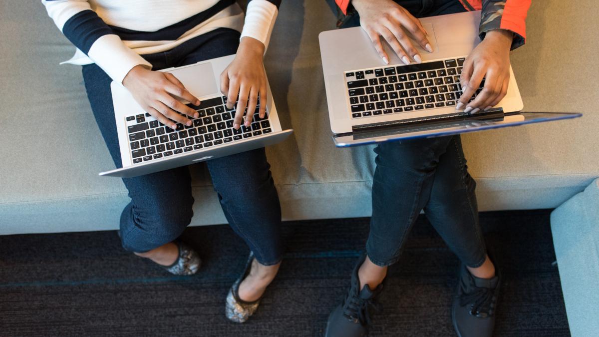 designer and developer working together