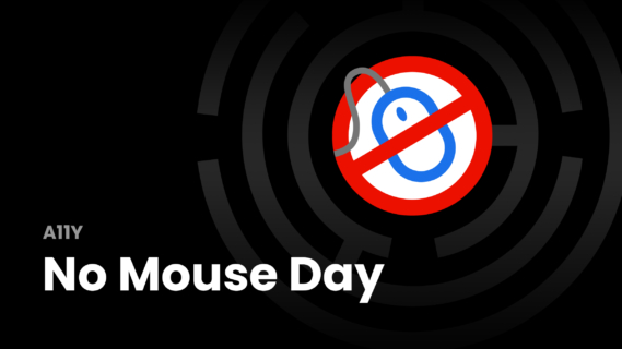 no mouse day event. desktop mouse with stop sign.